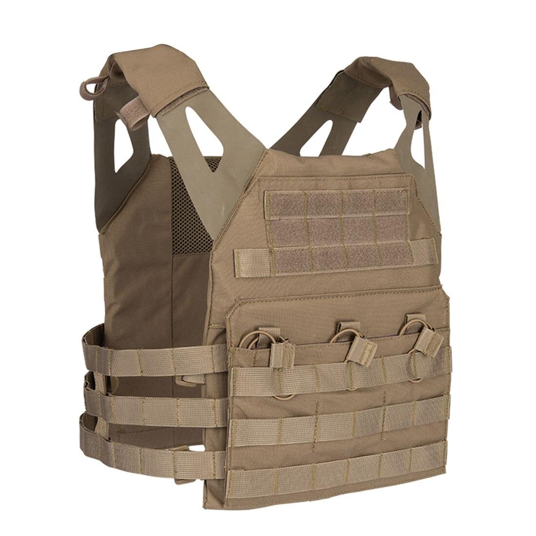 Chaleco táctico JPC, chaleco resistente al agua antiarañazos, accesorios militares para actividades al aire libre, bronceado negro