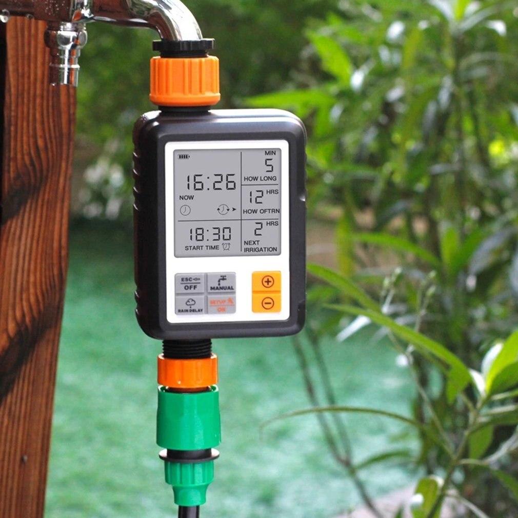 Automatische Programmierbare Digitale Wasser Timer Großen Bildschirm Wasserdicht Für Rasen Bewässerung System Gebaut-in Batterie Bewässerung Timer