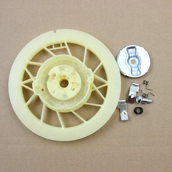 Gx340 starter pawl kit para honda gx390 gx420 gx440 gx610 gx630 placa de fricção pull start parafuso mola anel retentor 5kw 8kw 6500