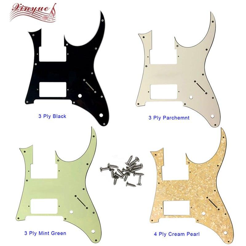 Piezas de guitarra Pleroo-para 10 tornillos con agujero MIJ Ibanez RG350EXZ Pickguard Humbucker HS Pickup Scratch Plate, muchos colores