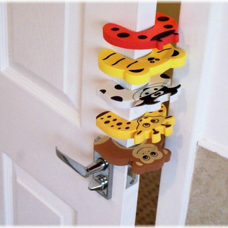 Детские защитные Заглушки для дверей, защитная защита для пальцев, шумозащитная защелка, случайный цвет, безопасность для детей