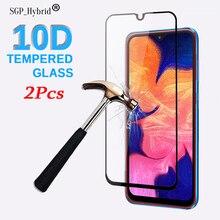 2pcs 10D For A10 Samsung A10 A 10 Tempered Glass Full Cover Protective Glass For Samsun Sansung A10 SM A105F DS Samsunga10 Film