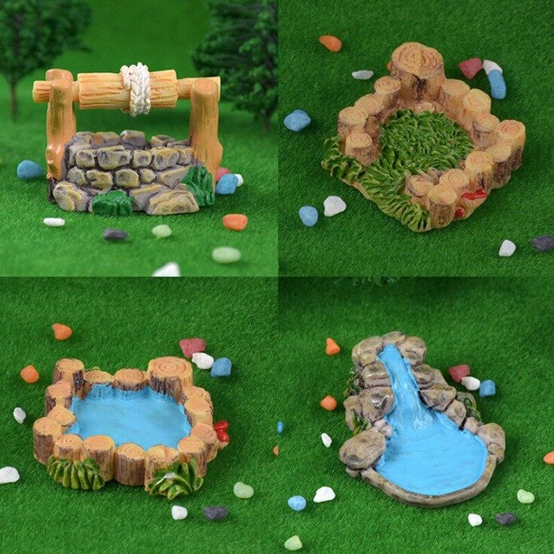 1 pieza DIY jardín miniaturas decoración Vintage casa agua Hada jardín fiesta adorno Micro paisaje decoración del hogar Accesorios