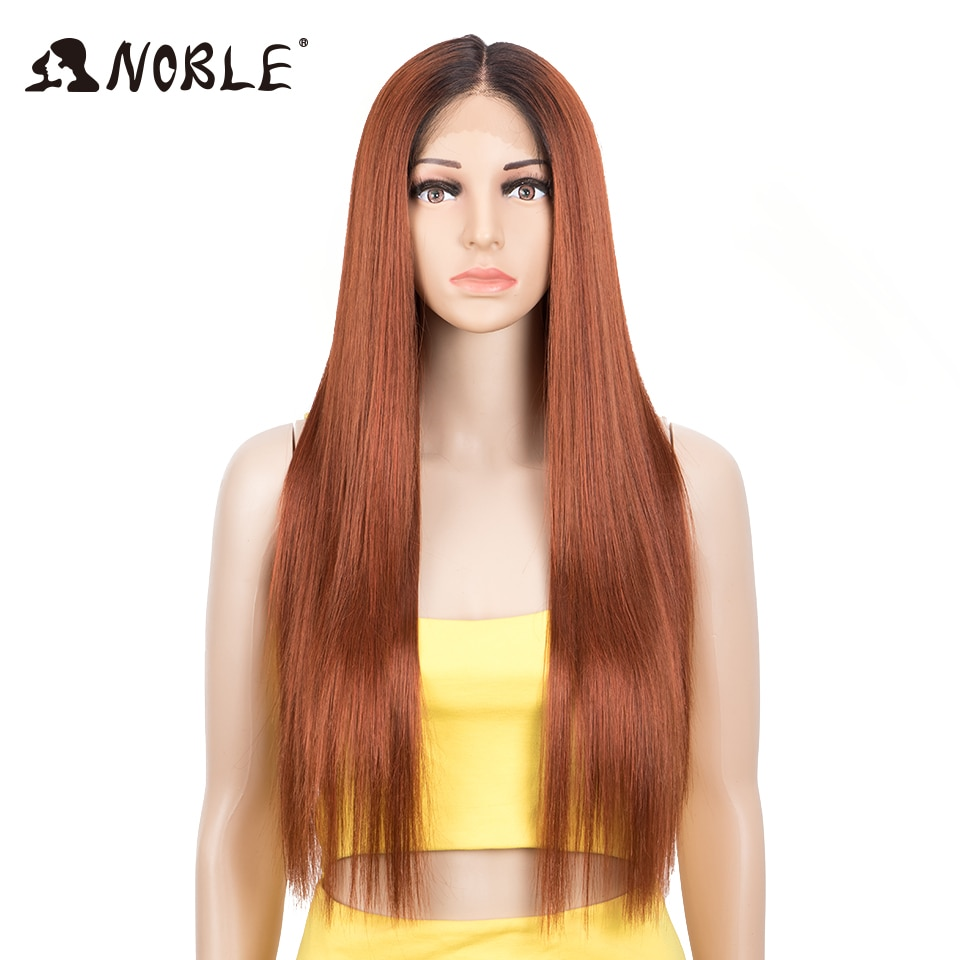 hot quality good synthetic black root to blonde ombre lace front wig long wavy cap girls cosplay wig free shipping Noble Cosplay Lace  Wig Synthetic Straight Hair 28 Ombre Blonde Wig Cosplay Wig For Black Women Synthetic Lace Wig