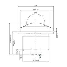 PUAimetis-objectif de vidéosurveillance HD 360   1.5 fisheye, 1/2 MM M12, caméra de surveillance vidéo 1/3/180. 7, lentilles de vidéosurveillance à grand angle