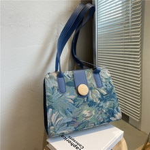 Western style Woman Shoulder Bags Canvas Fashion Messenger bag  Leisure brand Handbags Popular Top-h
