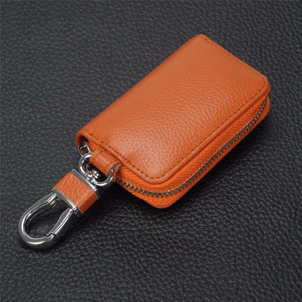 2019 carteras de cuero auténtico de moda para hombres, bolso de mano con cremallera para llaves de coche, bolso de mujer para Luxgen Master-Ceo 7mpv 5 7suv 6suv 3 U5suv