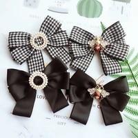 i remiel fashion new school style girl ribbon brooch bow tie fabric bee student uniform clothing stewardess bank tie accessories