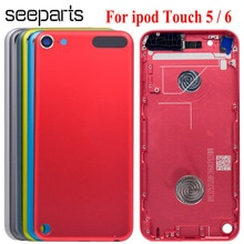 """4,0 """"для Ipod Touch 6 Корпус задняя Батарея крышка чехол Touch5 дверь задняя Панель Замена для ipod Touch 5 Чехол Корпус"""