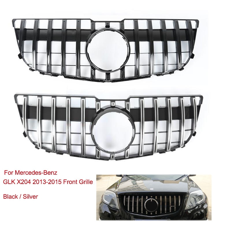 Rejilla frontal, rejilla de ventilación, parachoques, rejilla superior para Mercedes-Benz GLK X204 GLK250 GLK300 GLK350 2013 2014 2015 GLK 250 350 300 plástico