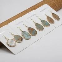natural stone earrings irregular ocean ore charms for elegant women love romantic gift