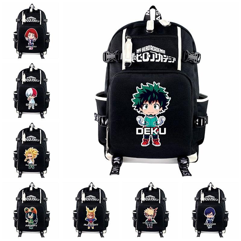 Bolsa de Viagem Anime Herói Academia Deku Bakugou Katsuki Mochila Teenages Portátil Bagpacks Casual Adolescentes Meu