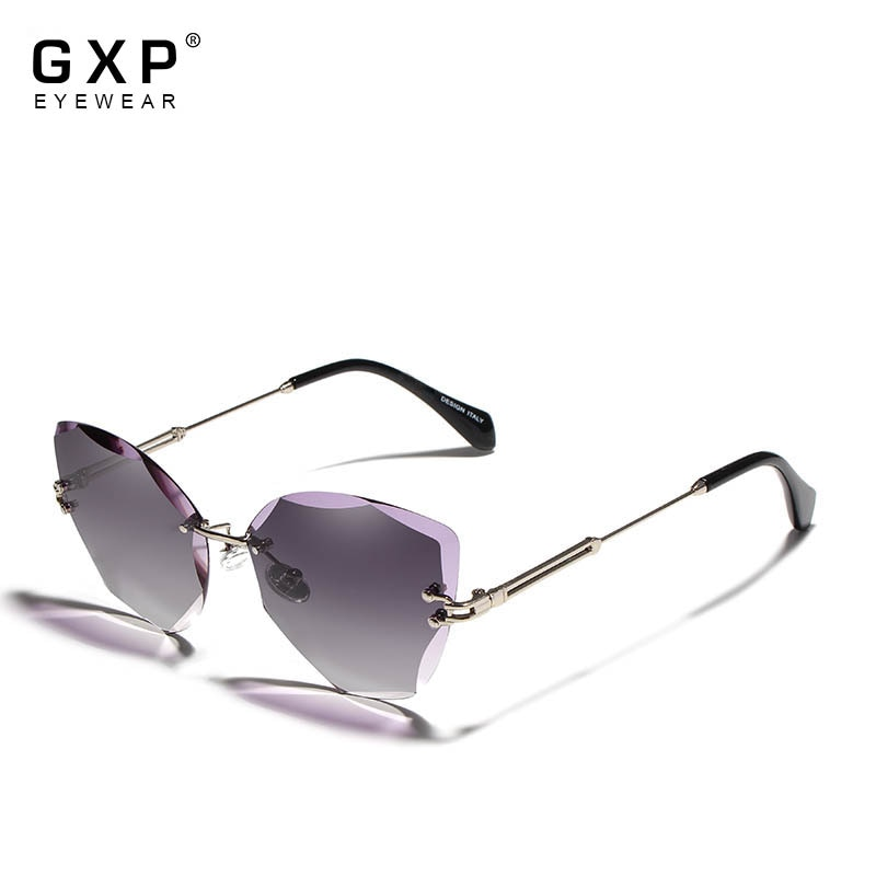 GXP Fashion Lady Sun glasses 2020 Rimless Women Sunglasses Vintage Alloy Frame Classic Brand Designe