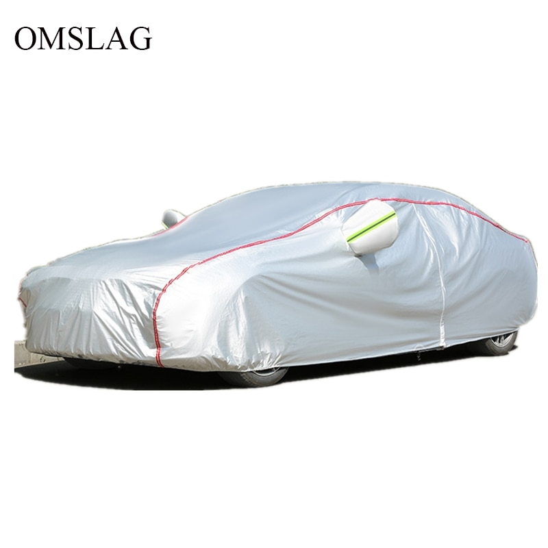 OMSLAG Universal Outdoor Car Covers Sunscreen Waterproof Protection Anti UV with Reflective Strip SUV/Sedan/ hatchback /S-XXL