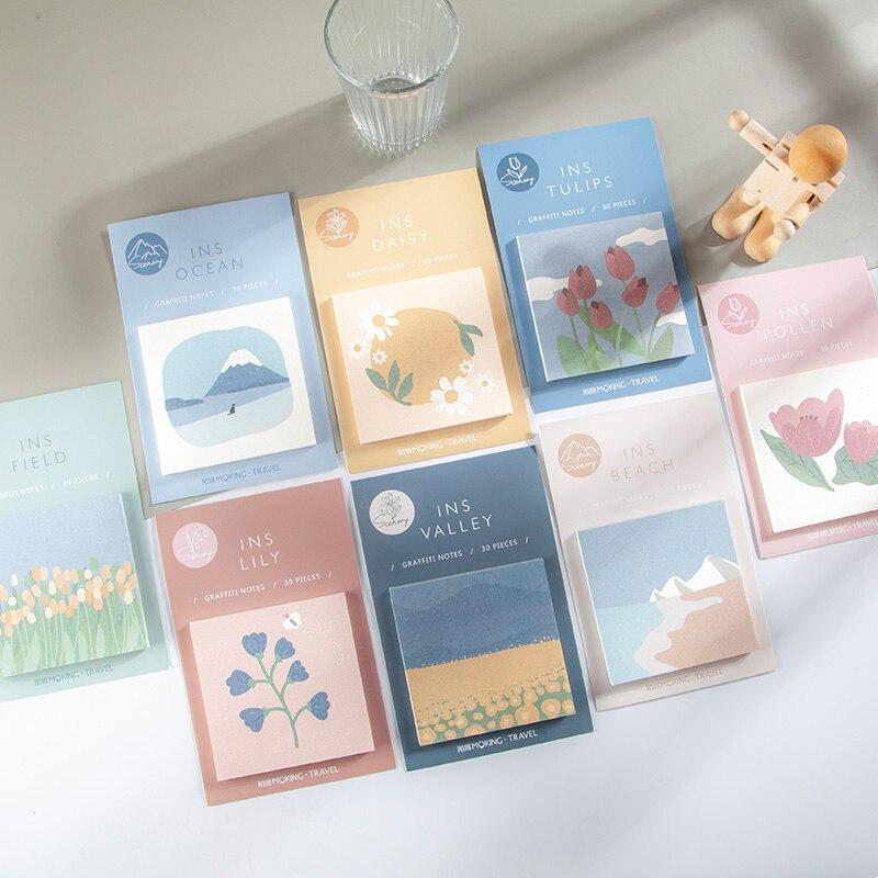 Journamm 30 шт. блокноты для иллюстрации Morandi канцелярские Блокноты с листьями дневник креативный деко офисные школьные принадлежности блокноты