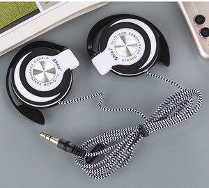 Проводные наушники с крючком, Hi-Fi металлические стереонаушники с тяжелыми басами, регулируемая спортивная гарнитура для телефона