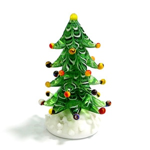 Christmas Glass Tree Figurines Home Tabletop Decoration Craft Ornaments Miniature Xmas Children's Birthday Party Gifts For Kids