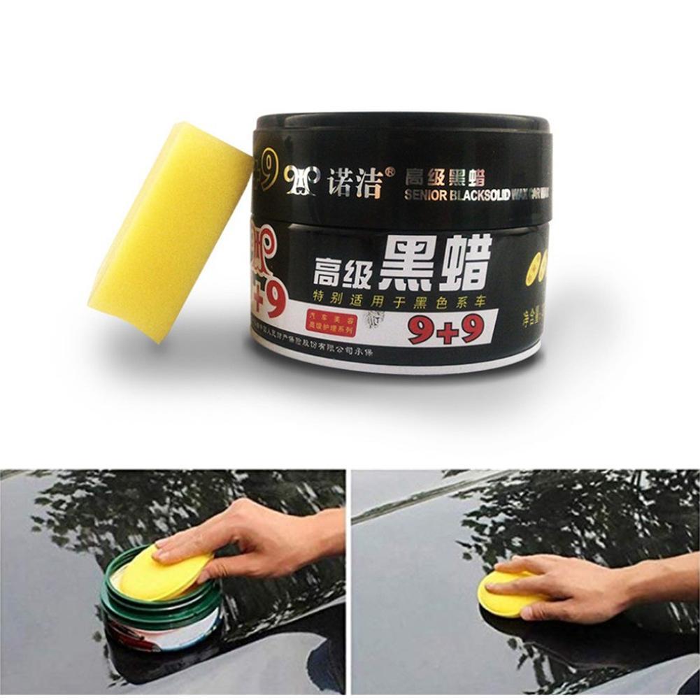 Pulidor de cera para coche pintura impermeable cuidado de arañazos reparación de coches cristal duro coche cera pulidor de arañazos con esponja