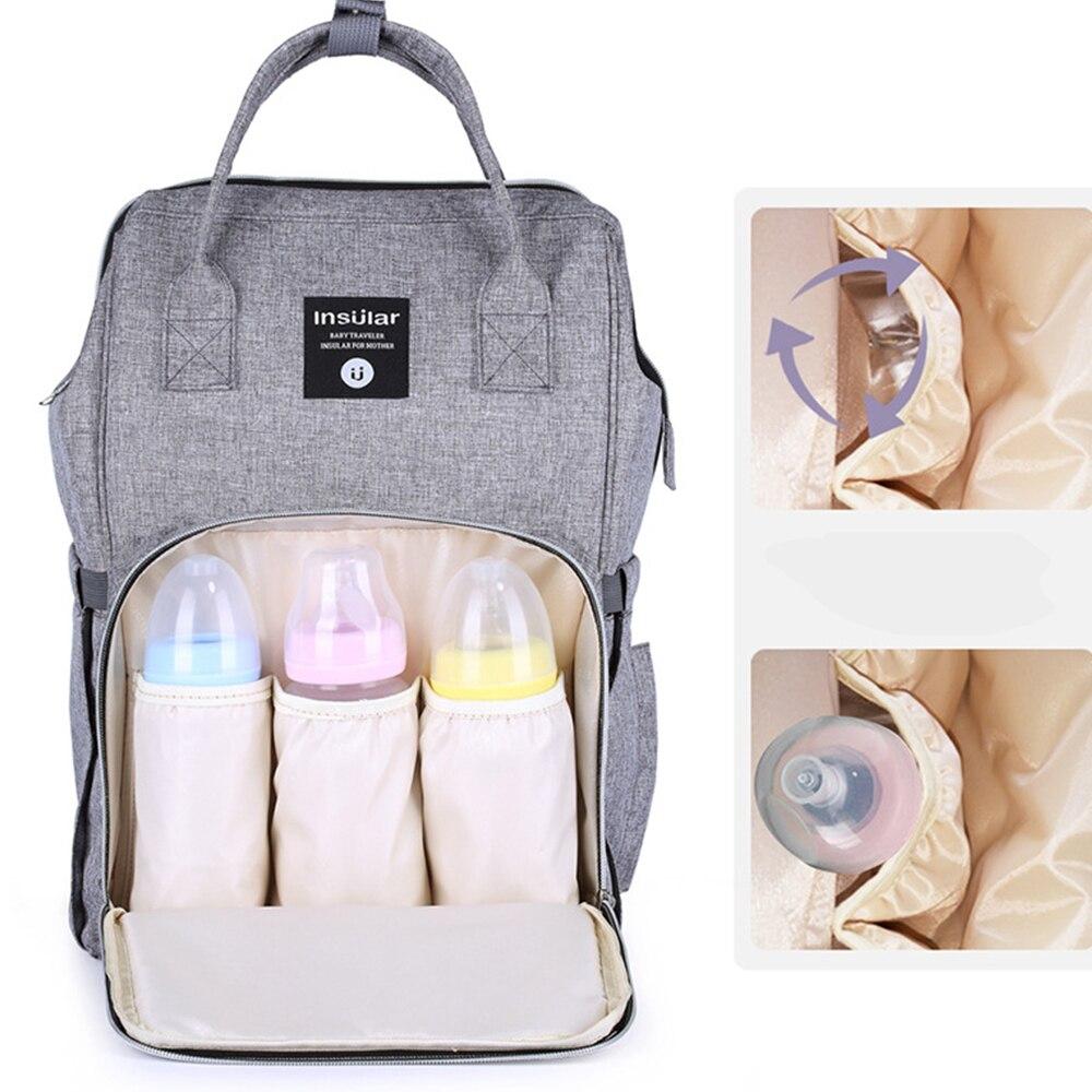 large Diaper Bag Maternity nappy bag Travel Backpack Nursing Bag for Baby Care Pram Cart Basket Hook Stroller Accessories
