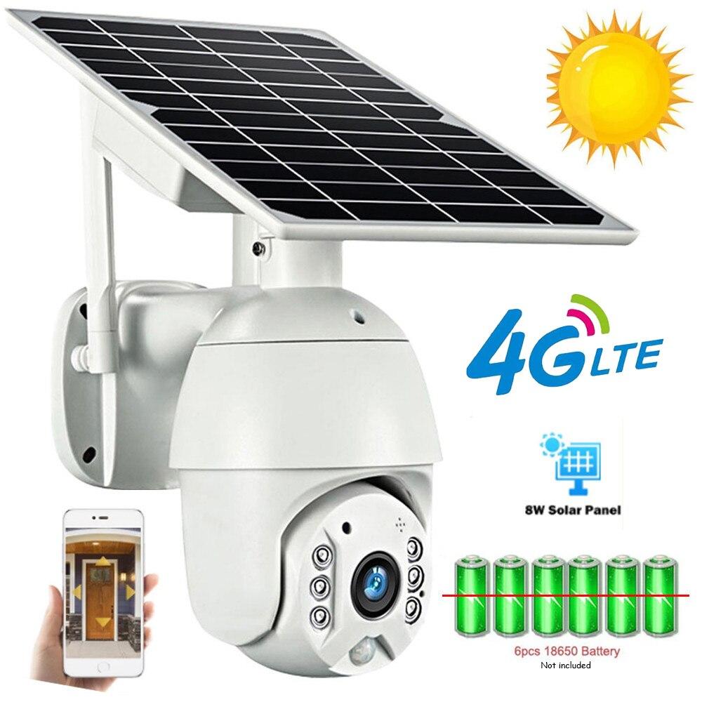 SHIWOJIA PTZ الشمسية كاميرا IP 4G سيم الإصدار كاميرا بشكل قبة لوحة طاقة شمسية LTE سحابة SD بطاقة رصد الأمن في الهواء الطلق الذكية LED إنذار