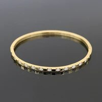 new deign luxury women love jewelry stainless steel crystal bangles bracelets for women wedding gift wholesale