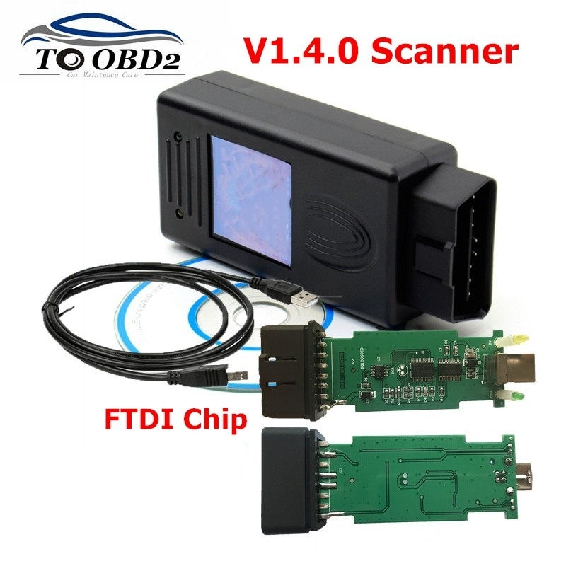 Best Quality FOR BMW Scanner 1.4.0 Version OBD2 Code Reader 1.4 OBD Diagnsotic Tool fast Mult-Function Fits  FTDI  Chip