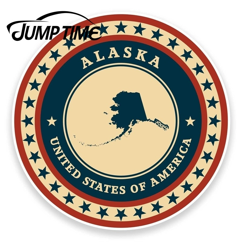 Pegatina de vinilo Jump Time para Alaska, USA, iPad, portátil, coche, viaje, equipaje, etiqueta, pegatinas, pegatinas de vinilo, revestimiento para coche DIY