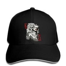 King & Queen Of Hearts Tattoo Sugar Skull Poker Playing Card White Men Baseball Cap  Snapback Cap Women Hat Peaked