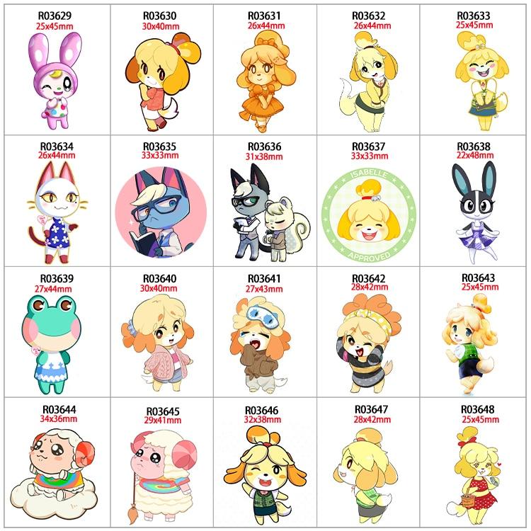 30pcs/lot Cartoon Girl Printed Resin Flatback Kawaii DIY Crafts Supplies Arts Phone Shell Decor Material R0362 R0363 R0364