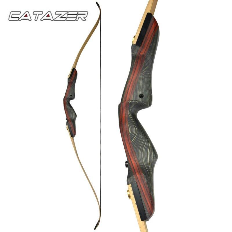 30-60 رطل قوس منحني أمريكي 17 بوصة أطراف ذات مقبض خشبي لرماية السهام قوس منحني ملحقات صيد القوس