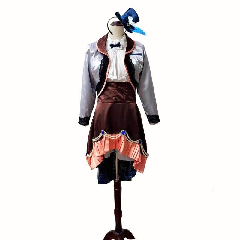 Anime negro Butler Ciel Phantomhive gemelos Cosplay Kuroshitsuji traje