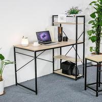 Newest Computer Desk Laptop Desk Writing Table Study Desk with Shelves Drawers Office Furniture PC Laptop Workstation HWC