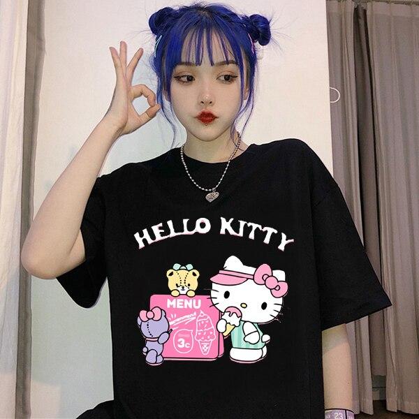 Y2k T-shirt Street Aesthetic bratz Rap Hip Hop Rock Harajuku Gothic