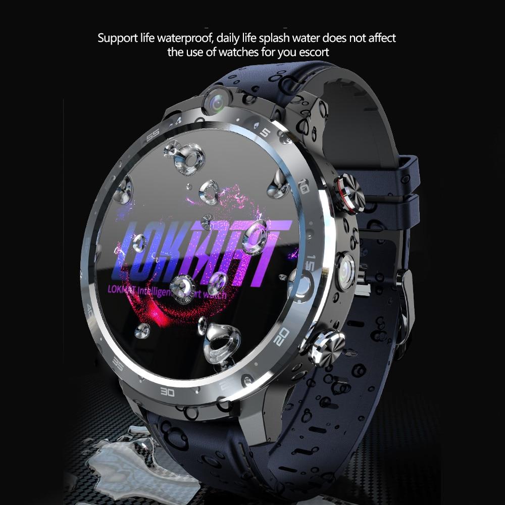 LOKMAT APPLLP 2 Android Smart Watch Phone MT6762 4G Network Dual Camera Wifi GPS Face Unlock RAM 4G ROM 64G Men Smartwatches