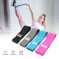 4pcs fitness training rubber resistance band pilates rubber sports fitness band gradient pull band for women indoor fitness