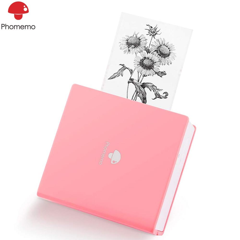 Phomemo M02 Thermal Printer Portable Multifunctional Mini Bluetooth Label Printer Wireless Sticker Mobile Printer for iphone