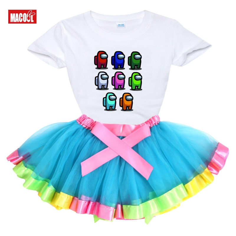 2021 Girls Dresses Cotton Summer Print Teenagers Dresses for Girls Designer Princess Party Dress Baby Kids Party Wear 2-10Ys