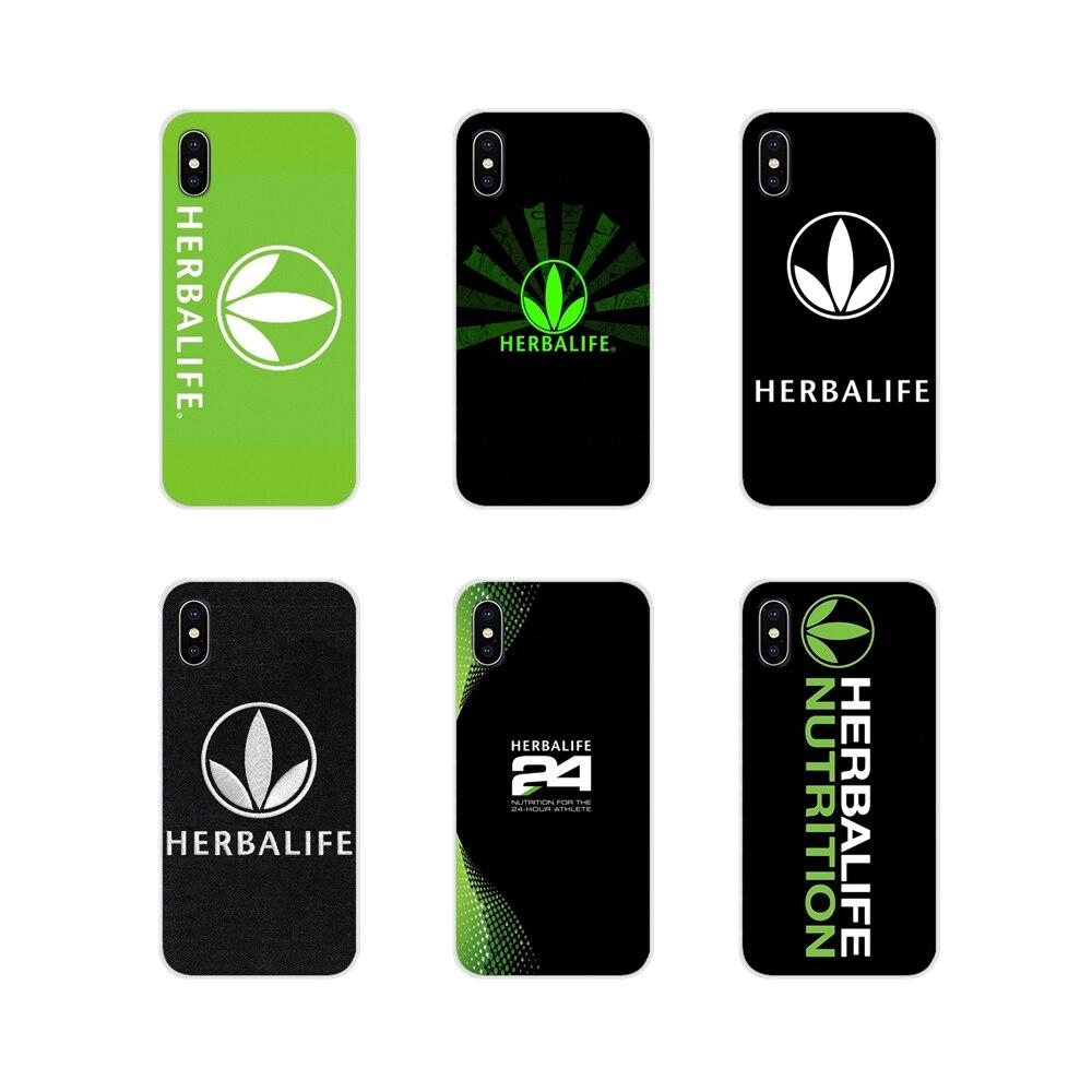 Fundas transparentes blandas de Herbalife negro y verde para Huawei G7 G8 P7 P8 P9 P10 P20 P30 Lite Mini Pro P Smart Plus 2017 2018 2019