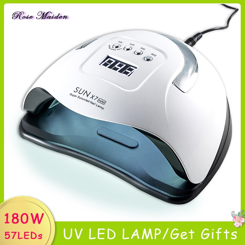 SUN X7 MAX LED UV Lamp Nails Dryer Professional For Curing Semi-permanent cabin Gel Polish Nail Drying for manicure