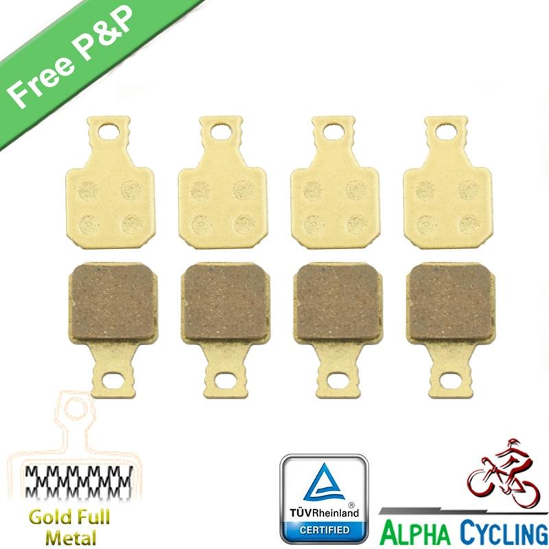 Велосипедные дисковые Тормозные колодки для Magura MT5 MT7 дисковые тормоза, 4 пары, золотые полностью металлические