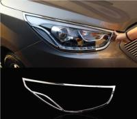 Car ABS Chrome Front headlight + Rear Tail Light Lamp Cover Trim For Hyundai IX35 2009-2018 Free Shipping
