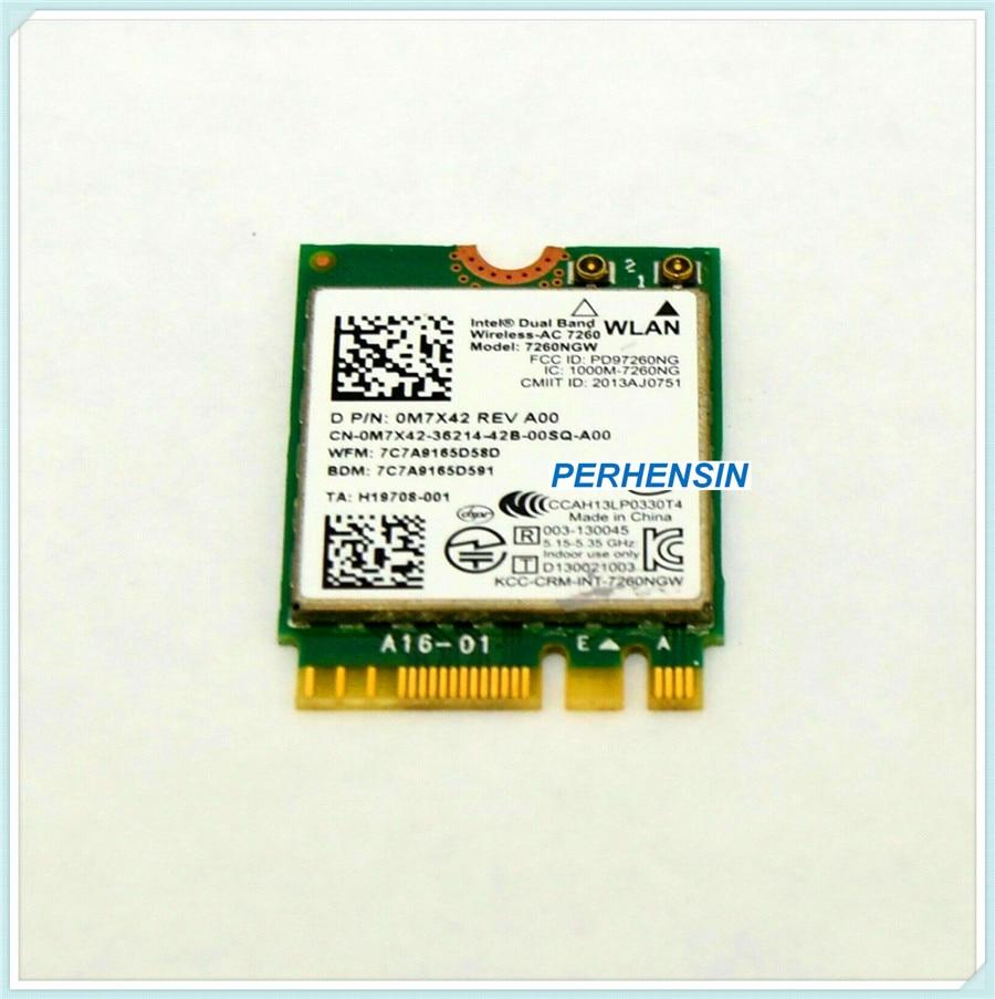 Wlan sem Fio para Dell 0m7x42 Bluetooth Cartão Venue 11 Pro 7130 7139 7260 wi fi 4.0