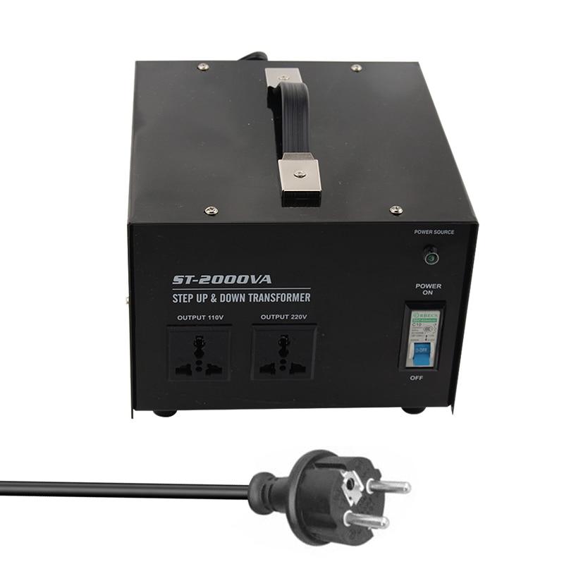 ST-2000 2000W Home Use 220V-110V,110V-220V Step up&down Transformer for Juicer,Refrigerator,Microwave,Printer