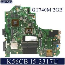 Kefu K56CM Scheda Madre Del Computer Portatile per Asus K56CB K56C S550CB S550CM Mainboard Originale I5-3337U/3317U GT740M
