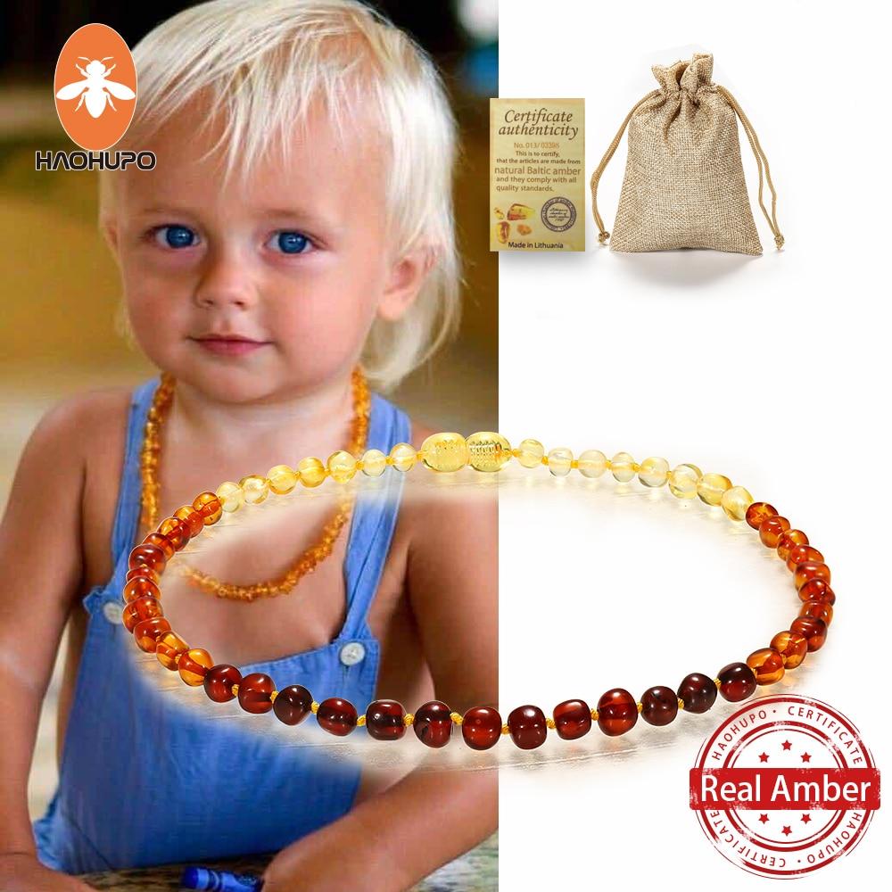 Ожерелье-из-натуральных-бусин-haohupo-Балтийский-браслет-прорезыватель-ожерелья-для-детей-качественные-сертифицированные-янтарные-Ювелирны