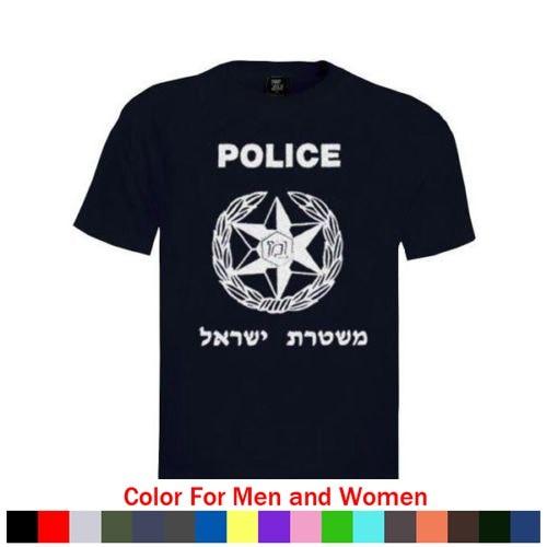 Nueva camiseta 100% de algodón para hombre, nueva camiseta de Policía de Israel con Logo, camisetas Unisex de algodón de 100% para adultos