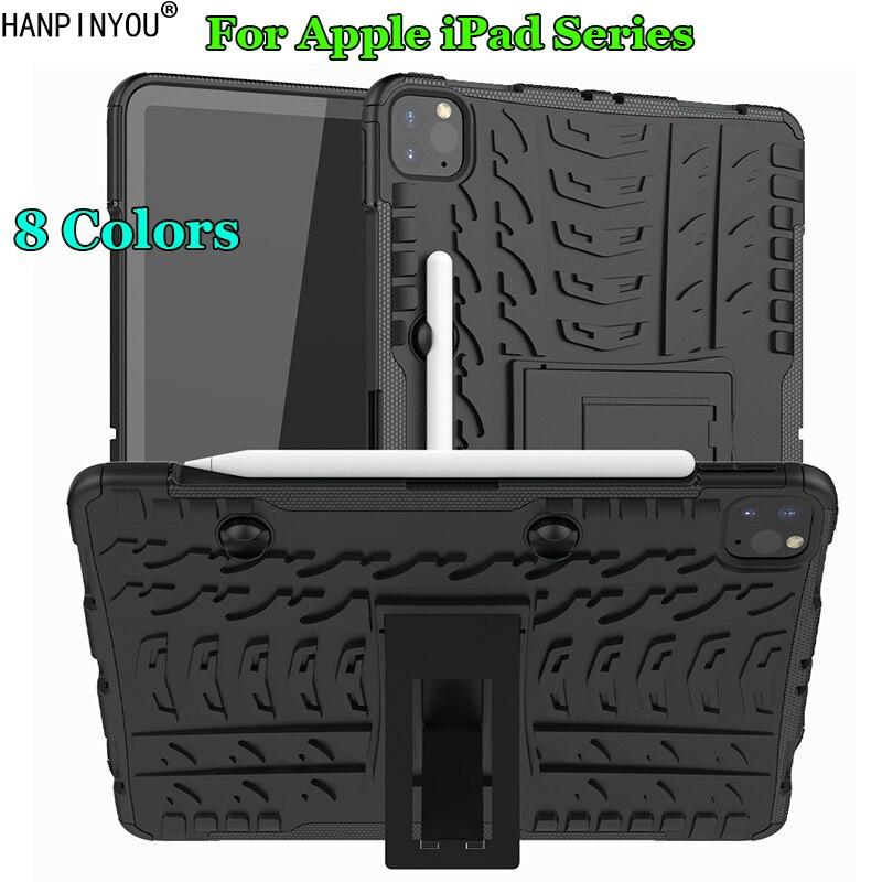 Para apple ipad 10.2/pro 11 ar 3 2020 dazzle à prova de choque macio silicone & plástico duro dupla armadura caso volta suporte capa