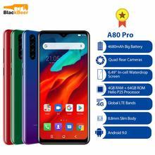 """Blackview A80 Pro 6,49 """"смартфон 4 Гб 64 Гб Восьмиядерный Android 10,0 4G LTE мобильный телефон Quad задние камеры глобальная версия 4680 мАч"""