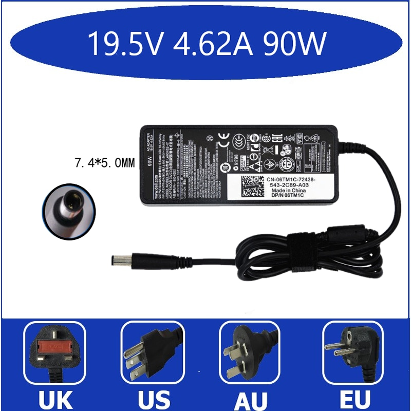 19.5V 4.62A Laptop Ac Adapter Charger for Dell Latitude P48G001 P50F P50F001 PP21L PP27L PP27LA PP27