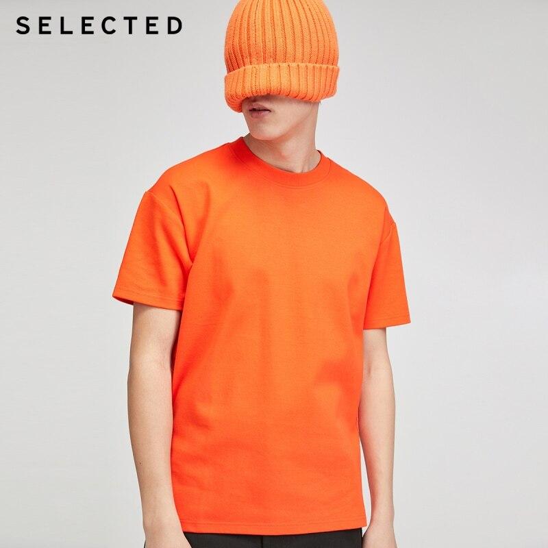 Camiseta de manga corta de 100% puro, de algodón, Color fluorescente selectos S   420201508